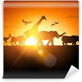 Papier Peint Vinyle Sunset Safari