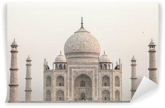 Papier Peint Vinyle Taj mahal.famous monument historique en Inde, Agra, dans l'Uttar Pradesh