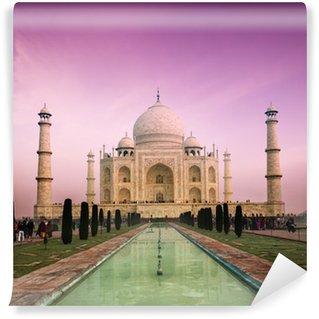 Papier Peint Vinyle Taj Mahal sur le coucher du soleil, Agra, Inde
