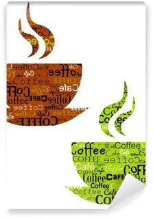 Papier Peint Vinyle Tasses à café