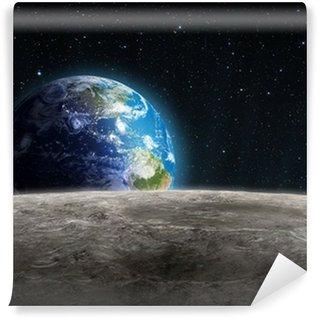 Papier Peint Vinyle Terre Rising vu de la Lune