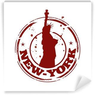 Papier Peint Vinyle Timbre de New-York