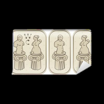 papier peint toilettes hommes et femmes dans le style ancien pixers nous vivons pour changer. Black Bedroom Furniture Sets. Home Design Ideas