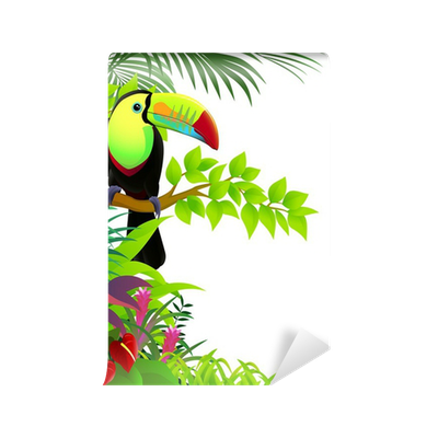 papier peint toucan oiseau dans la jungle pixers nous vivons pour changer. Black Bedroom Furniture Sets. Home Design Ideas