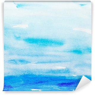 Papier Peint Vinyle Touches de couleurs aquarelle art peinture