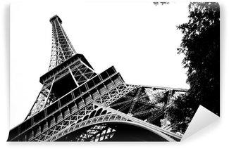 Papier Peint Vinyle Tour eiffel noir et blanc