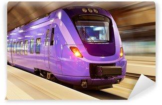 Papier Peint Vinyle Train à grande vitesse avec motion blur