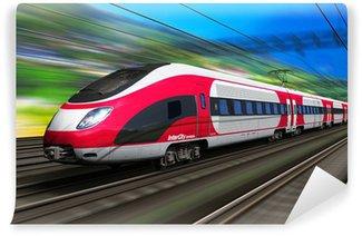 Papier Peint Vinyle Train à Grande Vitesse