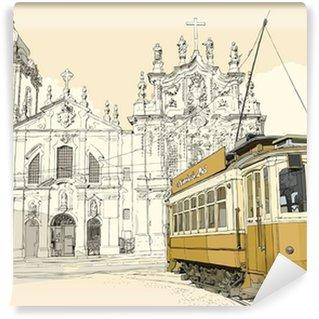 Papier Peint Vinyle Tramway à Porto