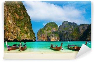 Papier Peint Vinyle Tropical beach, Maya Bay, Thaïlande
