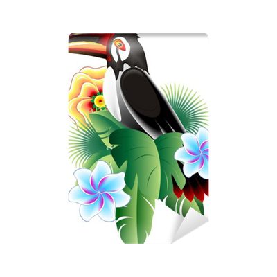 papier peint tucano toucan vector icon pixers nous vivons pour changer. Black Bedroom Furniture Sets. Home Design Ideas