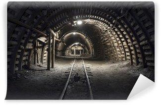 Papier Peint Vinyle Tunnel souterrain dans la mine de charbon