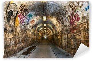 Papier Peint Vinyle Tunnel souterrain urbain