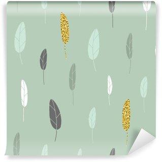 Papier Peint Vinyle Un motif à feuilles