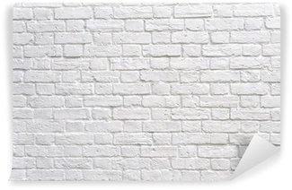 Papier Peint Vinyle Un mur de briques blanc