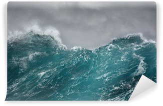 Papier Peint Vinyle Une vague et la mer