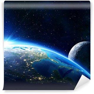 Papier Peint Vinyle Usa terre, l'horizon et la lune