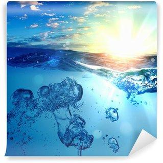Papier Peint Vinyle Vague de mer avec des bulles
