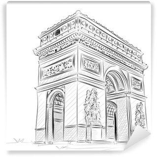 Papier Peint Vinyle Vector monde célèbre collection de point de repère: Arc de Triomphe, Pari