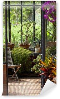 Papier Peint Vinyle Véranda, jardin, immobilier et détente zen
