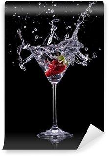 Papier Peint Vinyle Verre à martini sur fond sombre