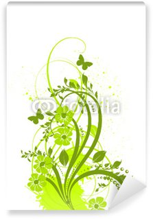 Papier Peint Vinyle Vert anis