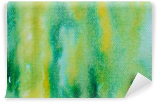 Papier Peint Vinyle Vert aquarelle peinte fond
