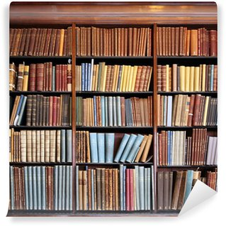 Papier Peint Vinyle Vieille étagère bibliothèque