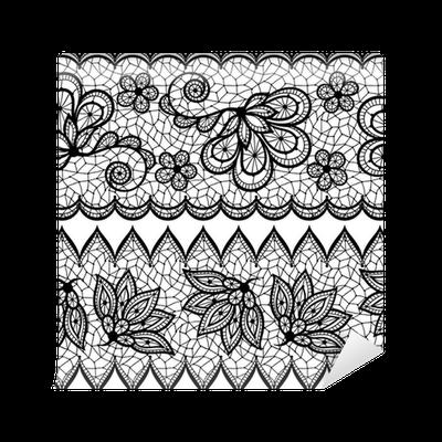 papier peint vieux motif de dentelle transparente bordure. Black Bedroom Furniture Sets. Home Design Ideas