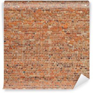 Papier Peint Vinyle Vieux mur de briques rouges fond