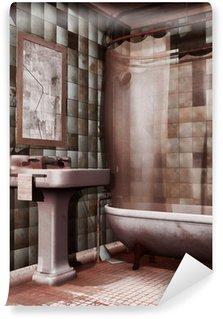 Papier Peint Vinyle Vieux négligé salle de bains