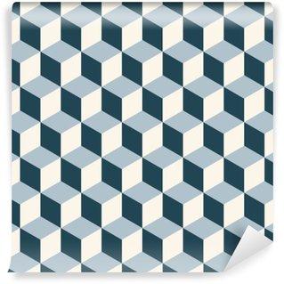 Papier Peint Vinyle Vintage cubes 3d motif de fond. modèle vectoriel Retro.