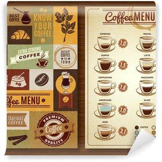 Papier Peint Vinyle Vintage Menu café 2 bannières Conseil