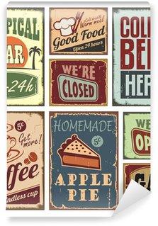 Papier Peint Vinyle Vintage style signs