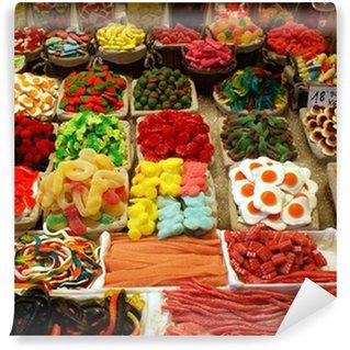 Papier Peint Vinyle Vitrine d'un magasin de bonbons
