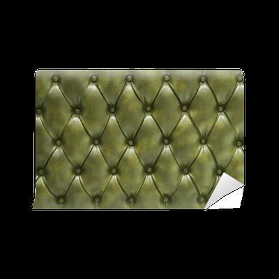 papier peint vivre vert cuir matelass rembourr pixers. Black Bedroom Furniture Sets. Home Design Ideas