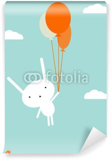 Papier Peint Vinyle Vol en montgolfière