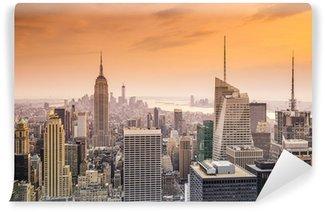Papier Peint Vinyle Vue aérienne de Manhattan