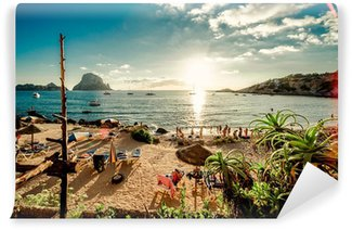 Papier Peint Vinyle Vue de Cala d'Hort Beach, Ibiza