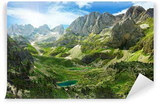 Papier Peint Vinyle Vue imprenable sur les lacs de montagne dans les Alpes albanaises