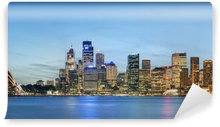 Papier Peint Vinyle Vue panoramique sur Sydney skyline avec le ciel bleu