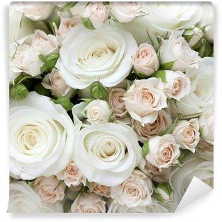 Papier Peint Vinyle Wedding bouquet de roses blanches pinkand