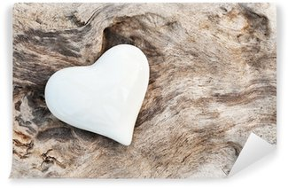 Papier Peint Vinyle White Heart