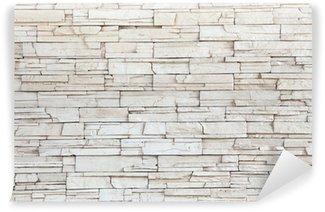 Papier Peint Vinyle White Stone Tile Texture mur de briques