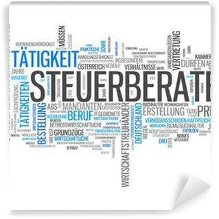 "Papier Peint Vinyle Wortwolke ""Steuerberater"""
