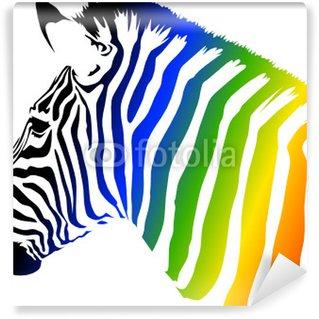 Papier Peint Vinyle Zebra Couleur