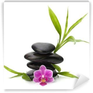 Papier Peint Vinyle Zen équilibre de cailloux. Spa et le concept de soins de santé.