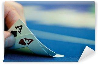 Papier Peint Vinyle Zwei Asse beim Pokerspiel