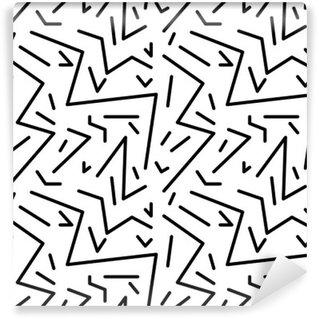 Pixerstick Duvar Resmi Retro 80s tarzı, memphis dikişsiz geometrik bağbozumu desen. kumaş tasarımı, kağıt baskı ve web sitesi zemin için idealdir. EPS10 vektör dosyası