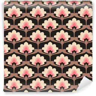 Pixerstick Duvar Resmi Seamless vintage floral pattern.